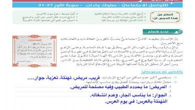 Photo of صف ثاني عشر فصل ثاني حل كامل دروس مادة التربية الإسلامية