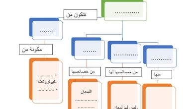 Photo of صف خامس فصل ثاني خريطة مفاهيم درس العناصر علوم  ثاني