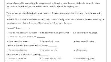 Photo of صف سادس فصل ثاني ورق عمل لغة إنجليزية شامل