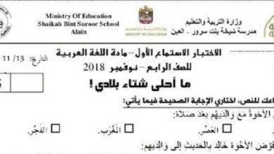 Photo of أسئلة نص استماع ما أحلى شتاء بلادي لغة عربية صف رابع فصل ثاني