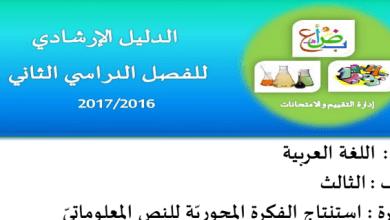 Photo of نموذج ارشادي للامتحان لغة عربية صف ثالث فصل ثاني
