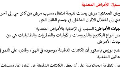 Photo of تلخيص الأمراض المعدية أحياء صف حادي عشر عام فصل ثاني