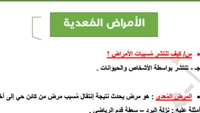 Photo of ملخص الأمراض المعدية أحياء صف حادي عشر فصل ثاني