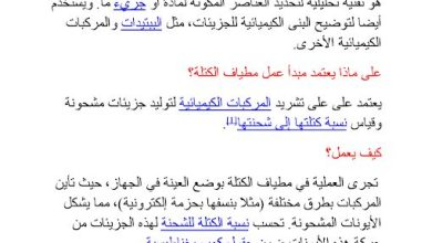 Photo of ملخص مطياف الكتله كيمياء صف ثاني عشر متقدم فصل ثاني