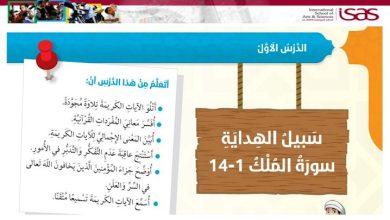 Photo of صف سادس فصل ثاني حل درس سبل الهداية تربية إسلامية