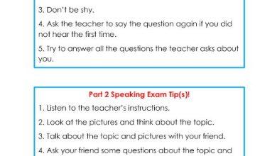 Photo of صف خامس فصل ثاني لغة إنجليزية النموذج الوزاري لامتحان التحدث