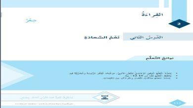 Photo of صف سادس فصل ثاني لغة عربية حلول درس نغم السعادة