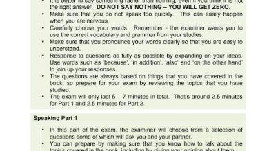 Photo of نموذج امتحان تحدث لغة إنجليزية صف تاسع فصل ثاني