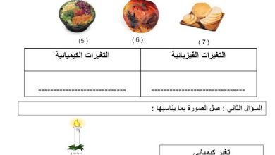 Photo of صف ثاني فصل ثالث علوم مراجعة عامة المادة وتغيراتها
