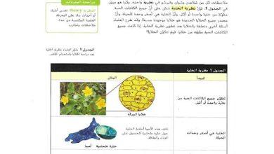 Photo of صف سادس فصل ثاني علوم حلول وحدة الخلية ووظائفها