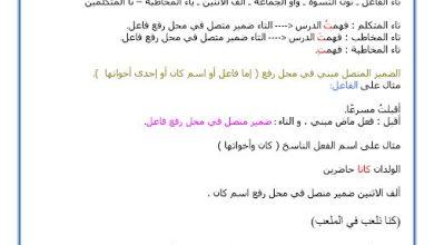 Photo of صف سادس فصل ثاني لغة عربية ورق عمل درس ضمائر الرفع المتصلة