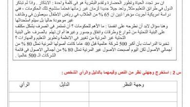 Photo of صف عاشر فصل ثاني لغة عربية أوراق عمل الدول بين الابتكار والاندثار