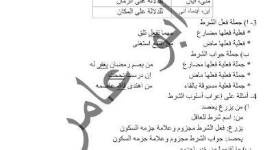 Photo of صف ثامن فصل ثاني اللغة العربية تلخيص درس أدوات الشرط الجازمة