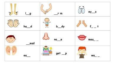 Photo of أوراق عمل (تهجئة الكلمات) الوحدات 5 – 6 – 7 لغة إنجليزية صف أول فصل ثاني