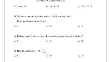 Photo of أوراق عمل 1 رياضيات منهج إنجليزي صف ثالث فصل ثاني