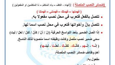 Photo of صف سابع فصل ثاني ورق اللغة العربية عمل درس ضمائر النصب المتصلة مع الحلول