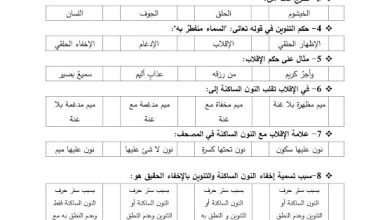 Photo of صف سادس فصل ثاني التربية الإسلامية ورق عمل