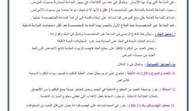 Photo of صف  حادي عشر متقدم فصل ثاني تلخيص أحياء درس جهاز المناعة