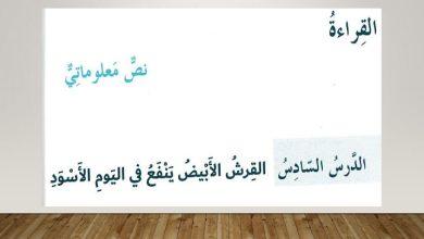 Photo of صف ثامن فصل ثاني لغة عربية حلول درس القرش الأبيض ينفع في اليوم الأسود