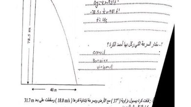 Photo of صف تاسع متقدم فصل ثاني أسئلة اختبار في الفيزياء