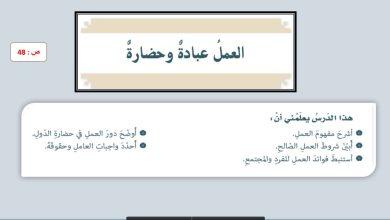 Photo of اجابة درس العمل عبادة وحضارة لمادة التربية الإسلامية صف سابع فصل ثالث