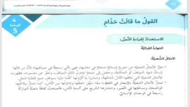 Photo of حل درس القول ما قالت حذام للصف السابع  لغة عربية