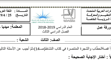 Photo of اوراق عمل قصة الحطاب والشجرة المنتصرة لغة عربية صف ثالث فصل ثالث