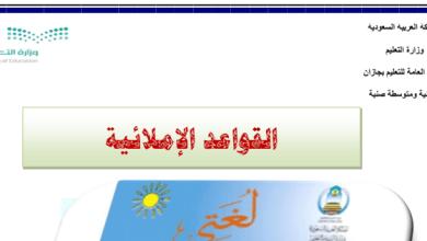 Photo of القواعد الإملائية لغة عربية صف ثاني فصل ثالث
