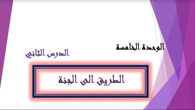 Photo of حل درس الطريق إلى الجنة الصف الخامس
