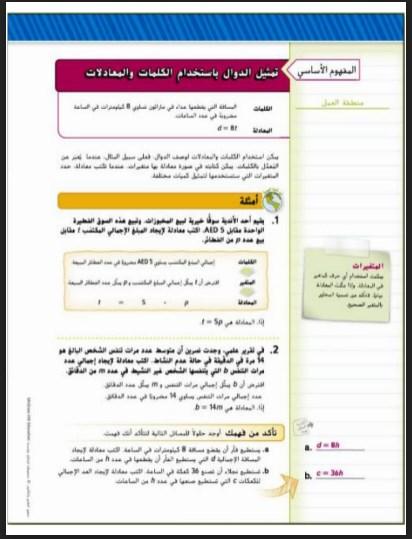 حل الدرس الرابع الدوال رياضيات صف ثالث فصل ثالث