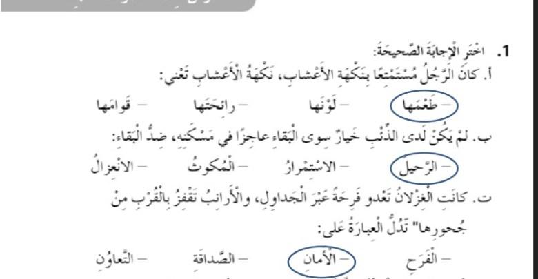 حل درس صوت المحبة لغة عربية الصف الخامس الفصل الثالث