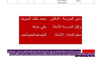 Photo of مراجعة عامة للفصل الثالث لغة عربية صف أول