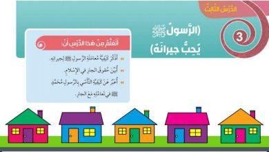 Photo of حل درس الرسول يحب جيرانه تربية إسلامية صف ثالث فصل ثالث