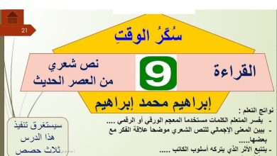 Photo of حل درس سكر الوقت لغة عربية صف ثاني عشر فصل ثالث
