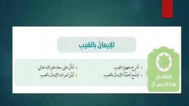 Photo of حل درس الإيمان بالغيب تربية إسلامية صف عاشر