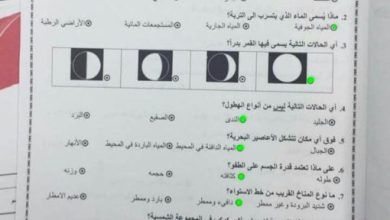 Photo of صف رابع امتحان علوم نهاية الفصل الثاني 2017