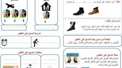 Photo of صف سابع فصل أول ورق عمل دين المسح على الخفين
