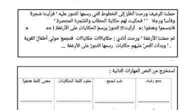 Photo of صف ثالث فصل ثالث أوراق عمل عربي بائع الحكايات