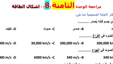 Photo of أوراق عمل مراجعة الوحدة الثامنة أشكال الطاقة علوم صف خامس فصل ثالث