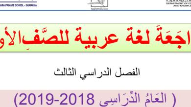 Photo of ملزمة لغة عربية صف أول فصل ثالث