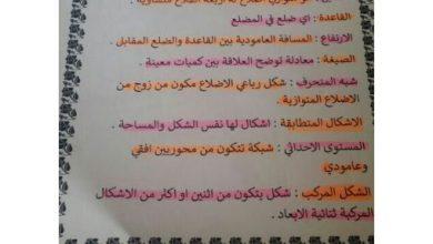 Photo of مذكرة رياضيات وحدة المساحة صف سادس فصل ثالث