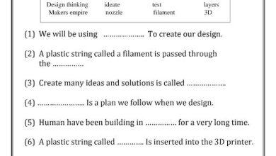 Photo of أوراق عمل تصميم وتكنولوجيا صف خامس فصل ثالث