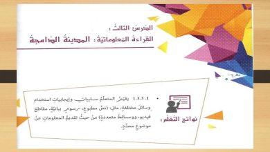 Photo of حل درس المدينة الدامجة – الحال  لغة عربية الصف الثامن الفصل الثالث