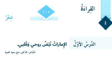 Photo of حل درس الإمارات نبص روحي وقلبي لغة عربية صف ثامن فصل ثالث