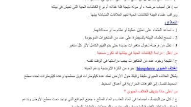 Photo of ملخص2 مبادئ علم البيئة أحياء صف حادي عشر فصل ثالث