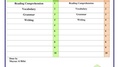 Photo of أوراق عمل مراجعة لمهارات الفصل الثاني والثالث لغة إنجليزية صف حادي عشر