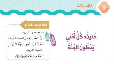 Photo of حل درس كل أمتي يدخلون الجنة تربية إسلامية الصف الثاني الفصل الثالث