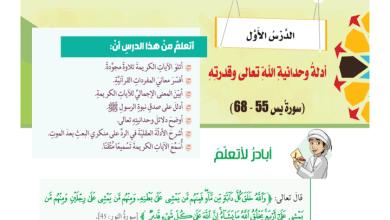Photo of حل درس أدلة وحدانية الله تعالى وقدرته تربية إسلامية الصف الثامن الفصل الثالث