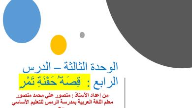Photo of حل درس حفنة تمر لغة العربية صف ثامن فصل ثاني