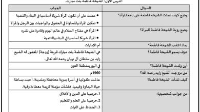 Photo of صف ثاني عشر مذكرة تربية إسلامية عامة للفصل الثاني